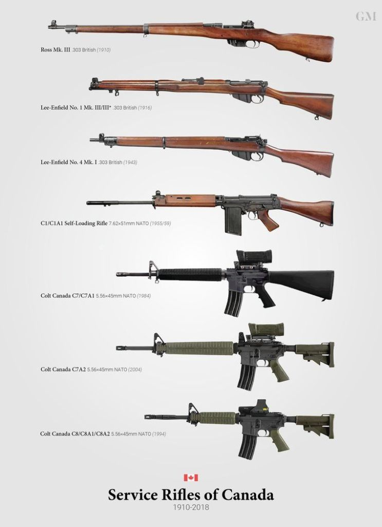 canada rifles to 2018